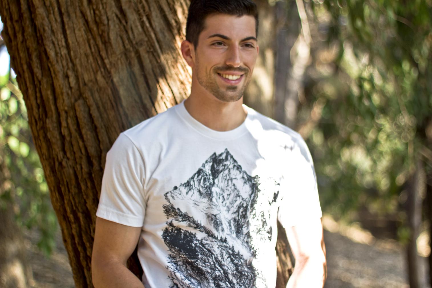 Sergio wearing the Ink Tshirt