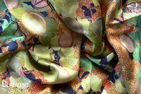 Almendro silk scarf 120x120cm