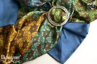 Floret silk scarf 120x120cm