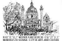 Postcard Karlskirche (Set of 5)