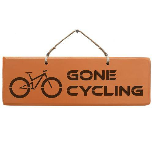 Schild - Gone Cycling