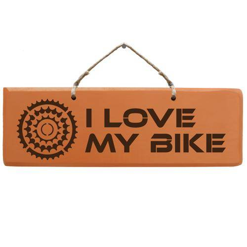 Schild - I love my Bike