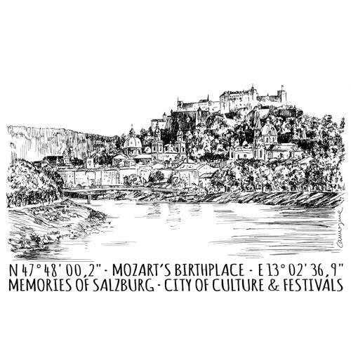 Postcard Salzburg (Set of 5)
